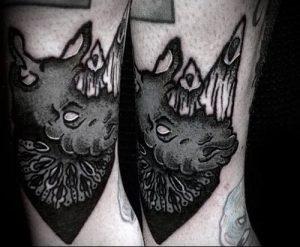фото тату носорог (rhino tattoo) (значение) - пример рисунка - 040 tatufoto.com