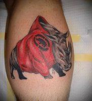 фото тату носорог (rhino tattoo) (значение) — пример рисунка — 043 tatufoto.com