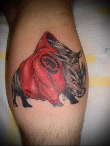 фото тату носорог (rhino tattoo) (значение) - пример рисунка - 043 tatufoto.com