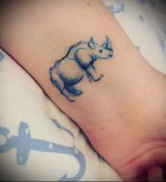фото тату носорог (rhino tattoo) (значение) — пример рисунка — 046 tatufoto.com