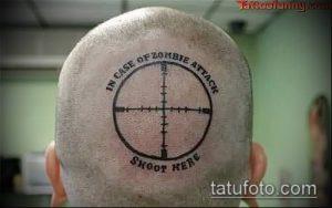 фото тату прицел (tattoo sniper scope) (значение) - пример рисунка - 001 tatufoto.com