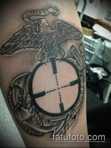 фото тату прицел (tattoo sniper scope) (значение) - пример рисунка - 003 tatufoto.com
