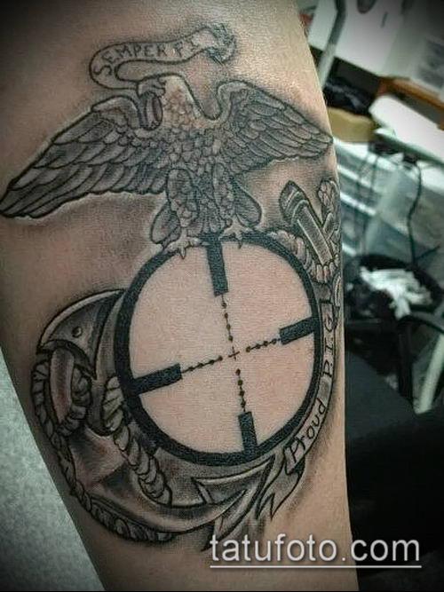 или титановая фото тату снайперского прицела подобных