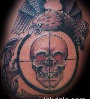 фото тату прицел (tattoo sniper scope) (значение) — пример рисунка — 006 tatufoto.com