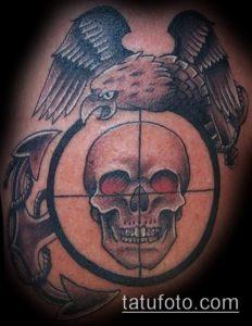 фото тату прицел (tattoo sniper scope) (значение) - пример рисунка - 006 tatufoto.com