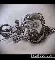 фото тату прицел (tattoo sniper scope) (значение) — пример рисунка — 009 tatufoto.com