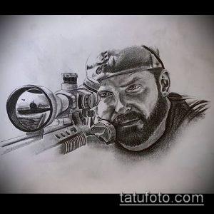 фото тату прицел (tattoo sniper scope) (значение) - пример рисунка - 009 tatufoto.com