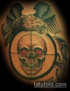 фото тату прицел (tattoo sniper scope) (значение) - пример рисунка - 010 tatufoto.com