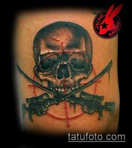 фото тату прицел (tattoo sniper scope) (значение) - пример рисунка - 011 tatufoto.com