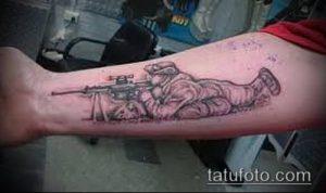 фото тату прицел (tattoo sniper scope) (значение) - пример рисунка - 014 tatufoto.com