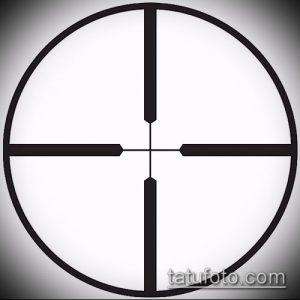фото тату прицел (tattoo sniper scope) (значение) - пример рисунка - 022 tatufoto.com