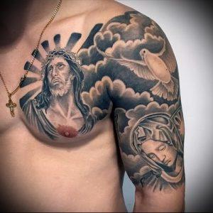 фото тату религиозные (значение) - пример интересного рисунка тату - 027 tatufoto.com