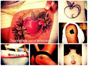 Значения тату яблоко - крутые татуировки на фото - рисунки