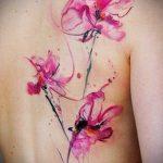фото Тату в стиле акварель (Watercolor) (значение) - пример рисунка - 019 tatufoto.com