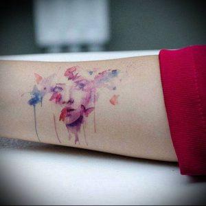 фото Тату в стиле акварель (Watercolor) (значение) - пример рисунка - 031 tatufoto.com