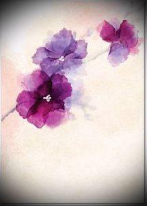фото Тату в стиле акварель (Watercolor) (значение) - пример рисунка - 056 tatufoto.com