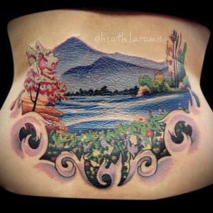 фото Тату в стиле акварель (Watercolor) (значение) - пример рисунка - 085 tatufoto.com