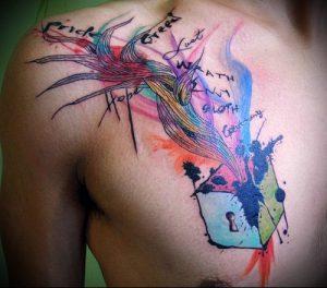 фото Тату в стиле акварель (Watercolor) (значение) - пример рисунка - 095 tatufoto.com