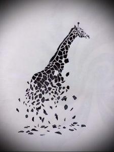 фото тату ЖИРАФ (Tattoo giraffe) (значение) - пример рисунка - 003 tatufoto.com