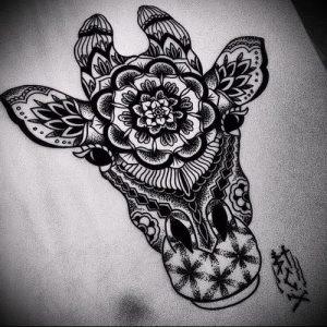 фото тату ЖИРАФ (Tattoo giraffe) (значение) - пример рисунка - 005 tatufoto.com