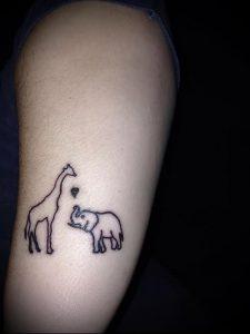 фото тату ЖИРАФ (Tattoo giraffe) (значение) - пример рисунка - 009 tatufoto.com