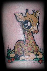 фото тату ЖИРАФ (Tattoo giraffe) (значение) - пример рисунка - 031 tatufoto.com