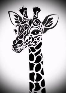 фото тату ЖИРАФ (Tattoo giraffe) (значение) - пример рисунка - 038 tatufoto.com