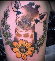 фото тату ЖИРАФ (Tattoo giraffe) (значение) — пример рисунка — 051 tatufoto.com