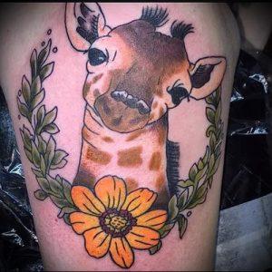 фото тату ЖИРАФ (Tattoo giraffe) (значение) - пример рисунка - 051 tatufoto.com