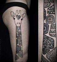 фото тату ЖИРАФ (Tattoo giraffe) (значение) — пример рисунка — 054 tatufoto.com
