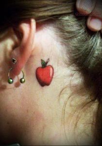 фото тату С ЯБЛОКОМ (Tattoo apple photo) (значение) - пример рисунка - 008 tatufoto.com