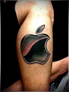 фото тату С ЯБЛОКОМ (Tattoo apple photo) (значение) - пример рисунка - 016 tatufoto.com