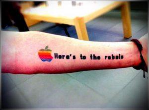 фото тату С ЯБЛОКОМ (Tattoo apple photo) (значение) - пример рисунка - 017 tatufoto.com