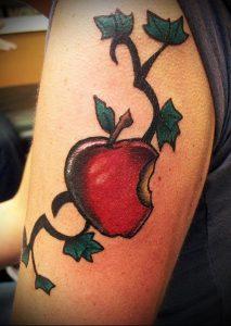фото тату С ЯБЛОКОМ (Tattoo apple photo) (значение) - пример рисунка - 019 tatufoto.com