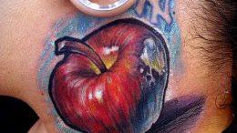 фото тату С ЯБЛОКОМ (Tattoo apple photo) (значение) - пример рисунка - 020 tatufoto.com