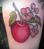 фото тату С ЯБЛОКОМ (Tattoo apple photo) (значение) — пример рисунка — 026 tatufoto.com