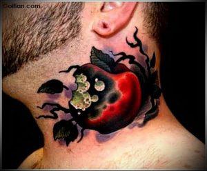 фото тату С ЯБЛОКОМ (Tattoo apple photo) (значение) - пример рисунка - 036 tatufoto.com