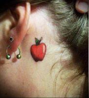 фото тату С ЯБЛОКОМ (Tattoo apple photo) (значение) — пример рисунка — 041 tatufoto.com