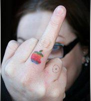 фото тату С ЯБЛОКОМ (Tattoo apple photo) (значение) — пример рисунка — 042 tatufoto.com