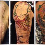 фото Тату на шраме, рубце, следе (tattoo) (значение) - пример рисунка - 015 tatufoto.com