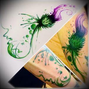 Фото татуировки чертополох - пример рисунка - 26052017 - пример - 009 Tattoo thistles