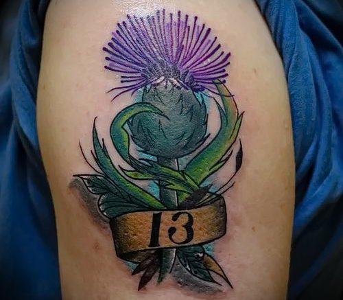 Фото татуировки чертополох - пример рисунка - 26052017 - пример - 010 Tattoo thistles