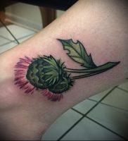 Фото татуировки чертополох — пример рисунка — 26052017 — пример — 011 Tattoo thistles