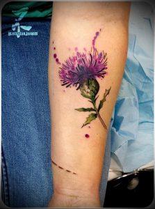 Фото татуировки чертополох - пример рисунка - 26052017 - пример - 015 Tattoo thistles