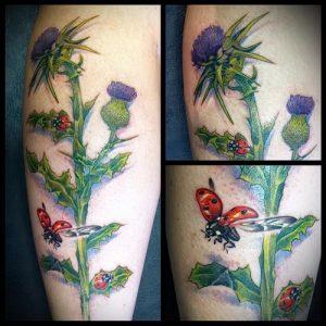 Фото татуировки чертополох - пример рисунка - 26052017 - пример - 028 Tattoo thistles