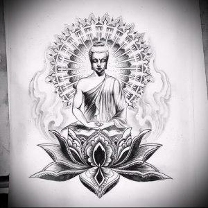 Фото тату Будда - 24052017 - пример - 022 Tattoo Buddha