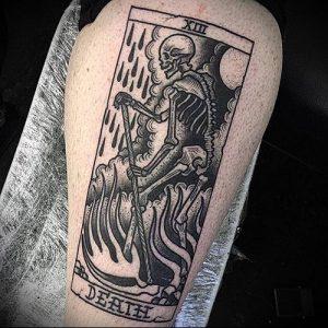 Фото тату Смерть (Death tattoo example) (значение) - пример рисунка - 005 tatufoto.com