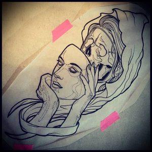Фото тату Смерть (Death tattoo example) (значение) - пример рисунка - 006 tatufoto.com