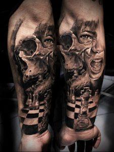 Фото тату Смерть (Death tattoo example) (значение) - пример рисунка - 007 tatufoto.com