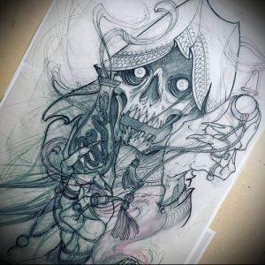 Фото тату Смерть (Death tattoo example) (значение) - пример рисунка - 009 tatufoto.com